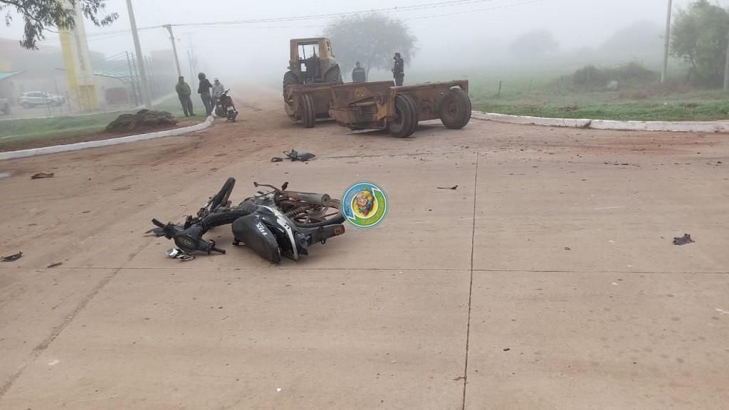 ACCIDENTE EN EL ACCESO NORTE DE LA CIUDAD DE VILLA ÁNGELA