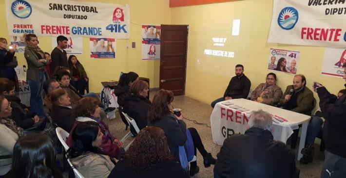 """EL FRENTE GRANDE LLEVÓ A VILLA ÁNGELA LAS CHARLAS DEBATE """"UNIDOS PARA FRENAR EL AJUSTE Y LA ENTREGA"""""""