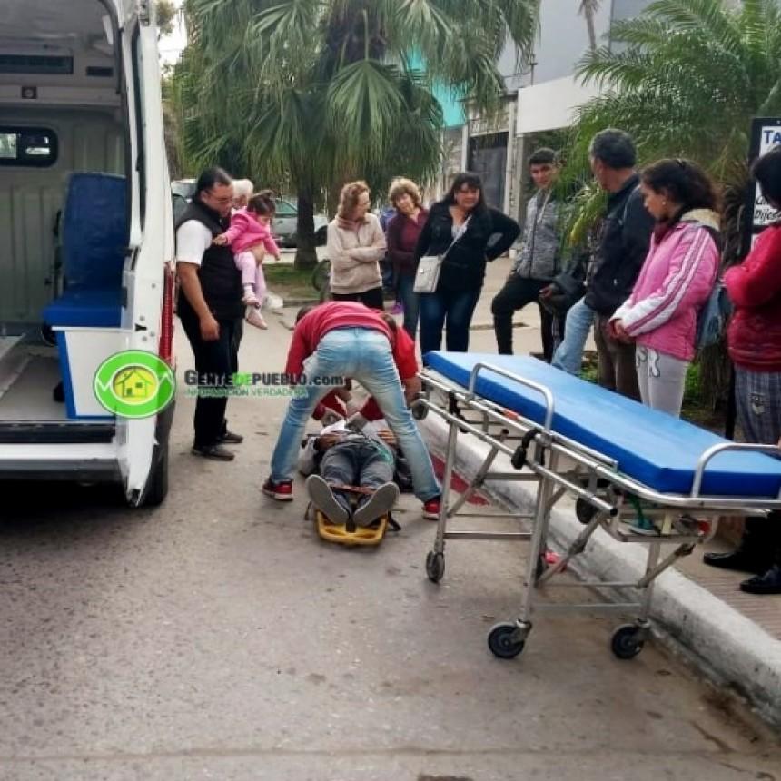 UN HOMBRE DE 75 AÑOS CAYÓ SOBRE LA CINTA ASFÁLTICA CUANDO CIRCULABA EN SU BICICLETA