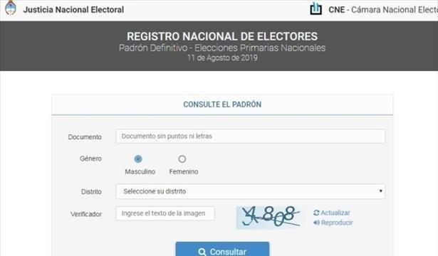 SE HABILITÓ EL PADRÓN ELECTORAL DEFINITIVO