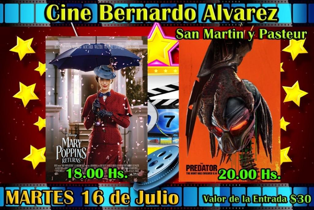 VACACIONES DE INVIERNO EN EL CINE BERNARDO ÁLVAREZ