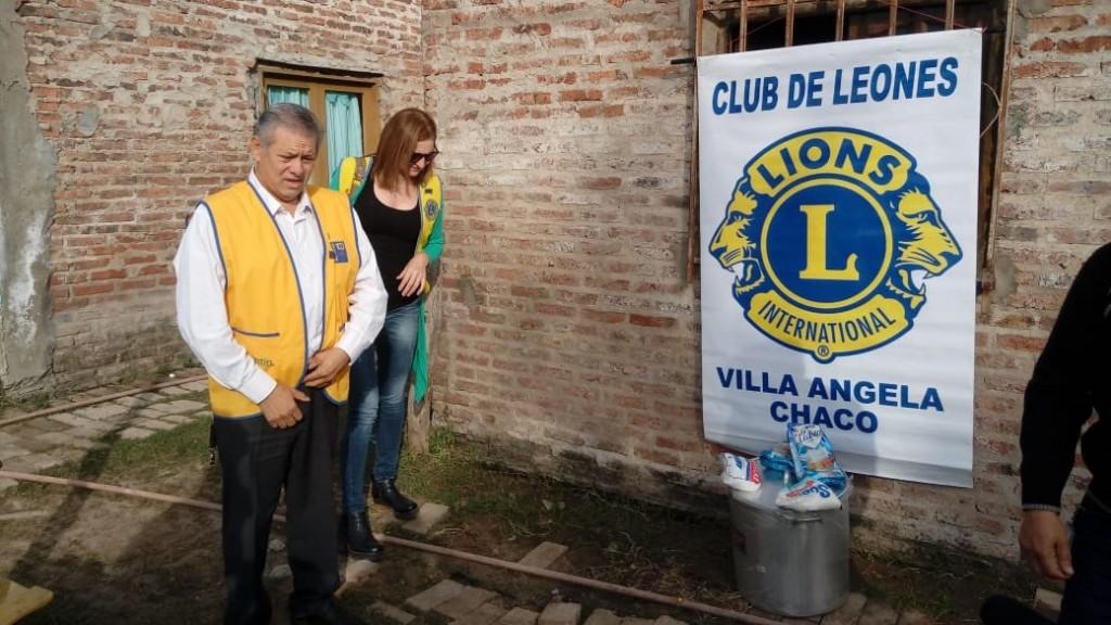 PRIMERA ACCIÓN DEL DOCTOR RAUL FERNANDEZ AL FRENTE DEL CLUB DE LEONES