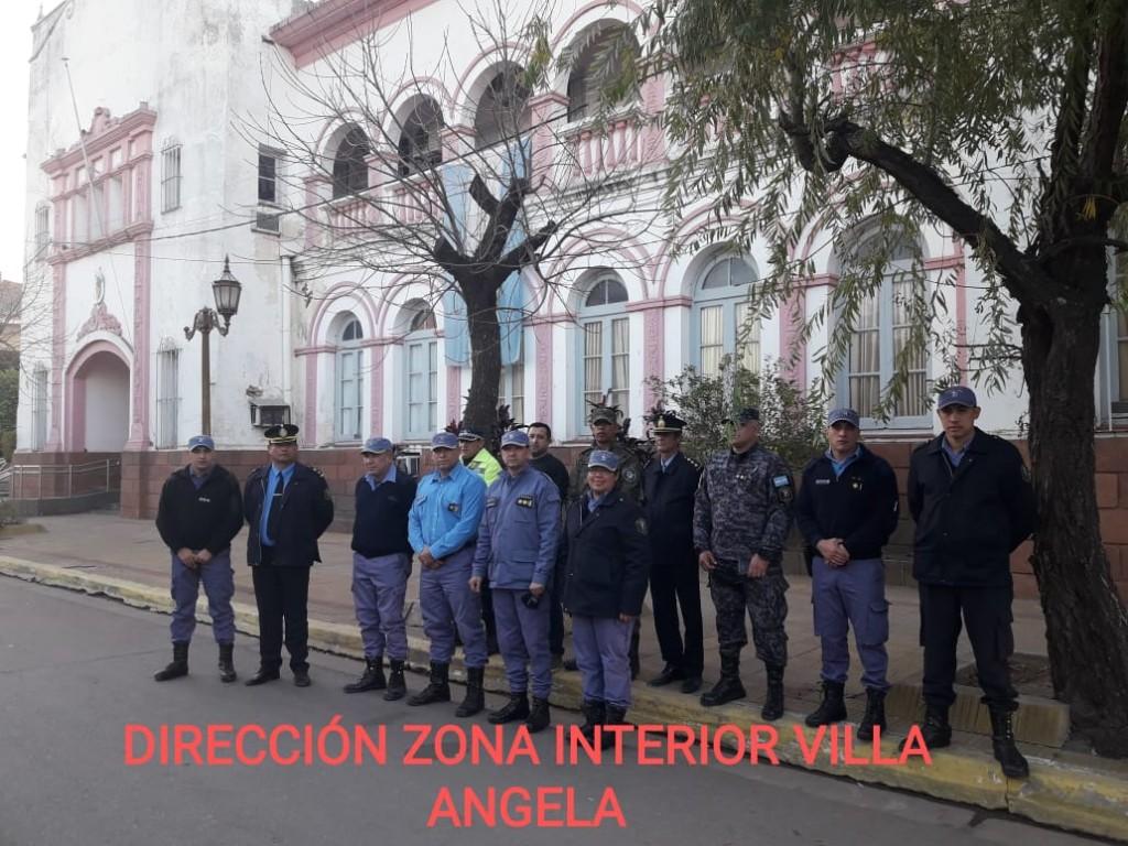 EL COMISARIO JUAN DUARTE SE DESPIDIÓ DE LA DIRECCION DE ZONA INTERIOR VILLA ÁNGELA