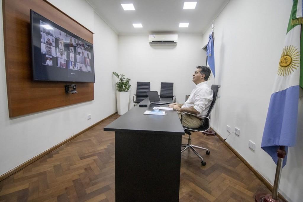 """CAPITANICH CON INTENDENTES: """"EL PROCESO DE DESESCALADA IMPLICA UN ESFUERZO COLECTIVO EN UNIDAD Y CON UN MODELO PROGRESIVO Y COORDINADO"""""""