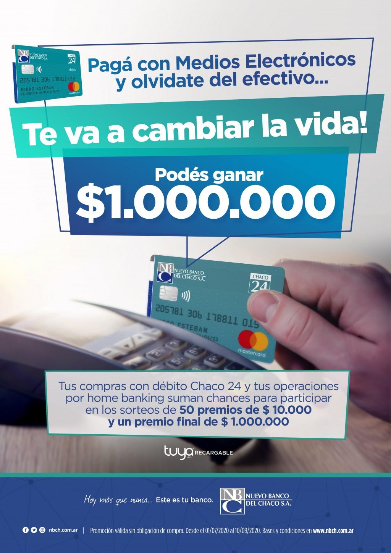 SE VIENE EL PRIMER SORTEO DE NUEVO BANCO DEL CHACO PARA USUARIOS DE TARJETA CHACO 24 Y HOME BANKING WEB