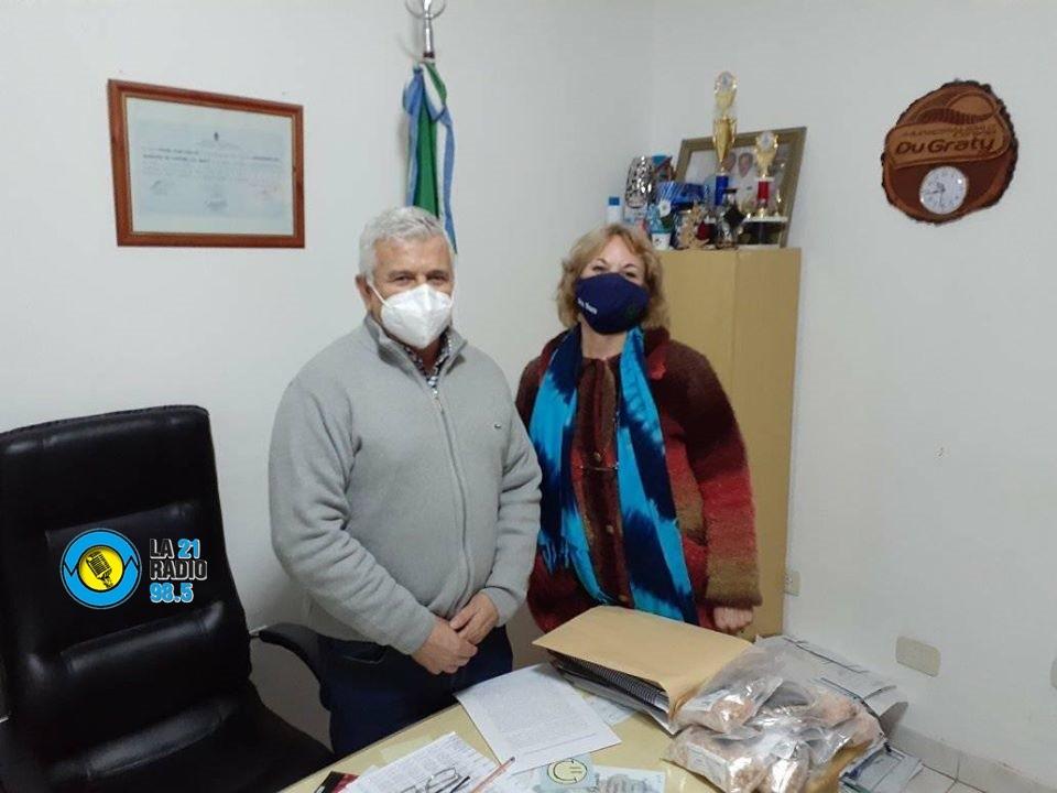 VISITA INSTITUCIONAL DESDE ZONA SANITARIA AL INTENDENTE JUAN CARLOS POLINI