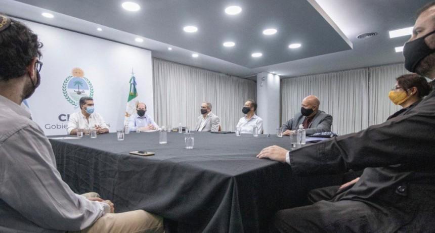 CAPITANICH Y LA MESA INTERRELIGIOSA TRABAJARON EN EL PLAN DE DESESCALADA PARA LOS CULTOS