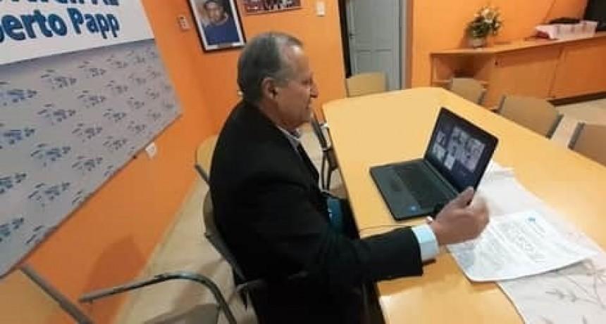EL INTENDENTE ADALBERTO PAPP MANTUVO REUNIONES VIRTUALES CON AUTORIDADES