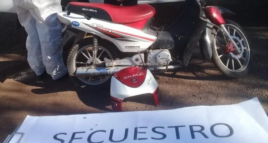 PROCEDIMIENTO Y SECUESTRO POR PARTE DE LA COMISARIA DE SAN BERNARDO EN EL ROBO DE UNA MOTOCICLETA