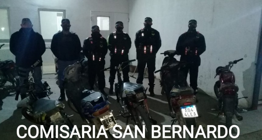 POLICIA CAMINERA Y PERSONAL DE COMISARIA SAN BERNARDO REALIZARON TRABAJO EN CONJUNTO