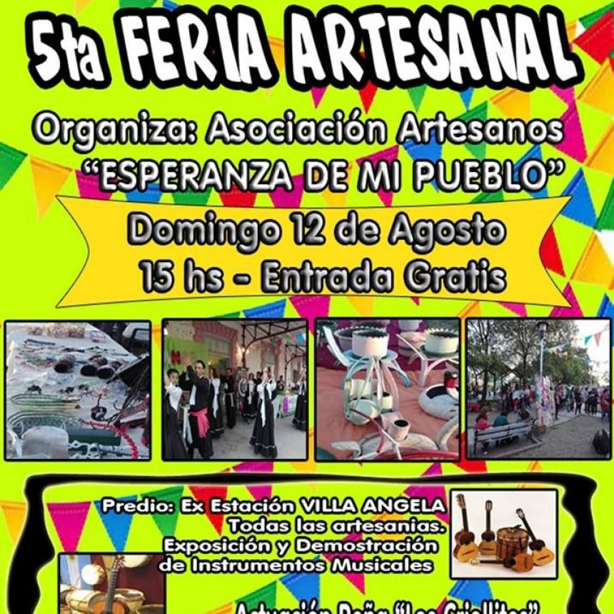 ESTE DOMINGO 12 DE AGOSTO SE VIENE LA 5TA FERIA ARTESANAL