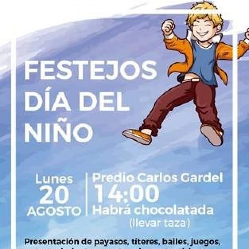 LA FIESTA MUNICIPAL DEL DÍA DEL NIÑO SE REALIZARÁ EL 20 DE AGOSTO EN EL CENTRO CULTURAL CARLOS GARDEL