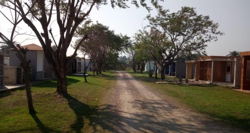 TRABAJOS DE MANTENIMIENTO  Y PARQUIZADO EN EL CEMENTERIO JUAN PABLO SEGUNDO