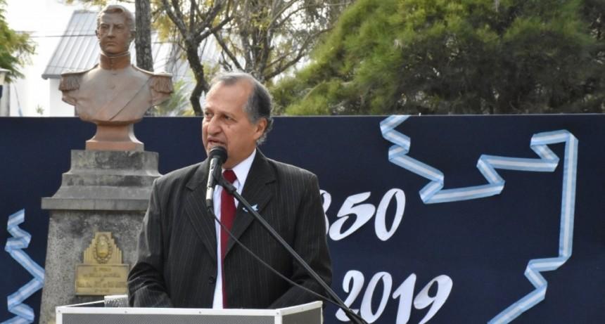 """EN EL ANIVERSARIO DE LA MUERTE DE SAN MARTÍN, PAPP CONVOCÓ A TODOS LOS VILLANGELENSES """"A DEMOSTRAR EN LAS ACTITUDES COTIDIANAS NUESTRO AMOR POR LA ARGENTINA"""""""