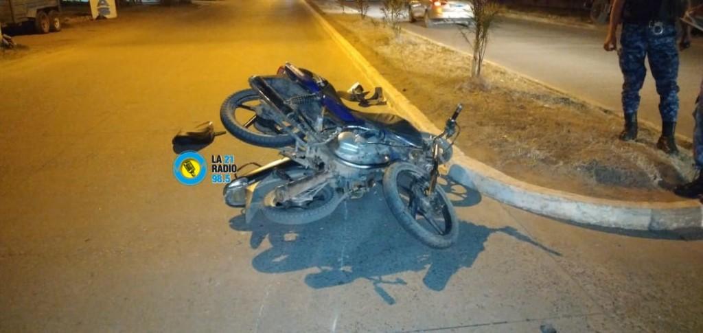 SINIESTRO VIAL ENTRE DOS MOTOCICLISTAS