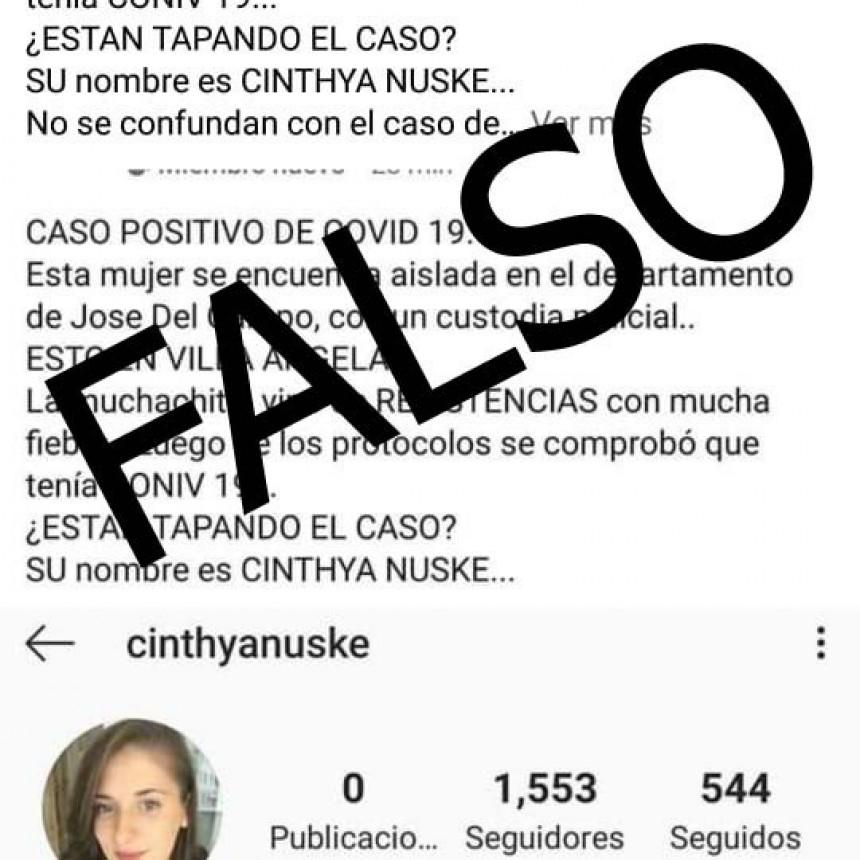 DIFUNDEN UN SEGUNDO CASO DE COVID EN VILLA ÁNGELA PERO ES FALSO