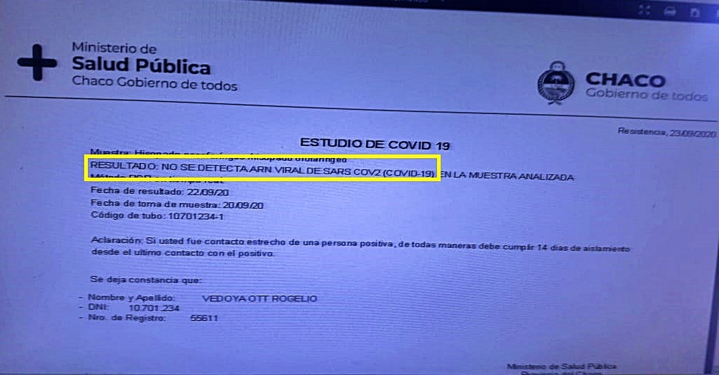 El ESPOSO Y LA MADRE DE LA DOCTORA TOURN DIERON NEGATIVO PARA COVID 19