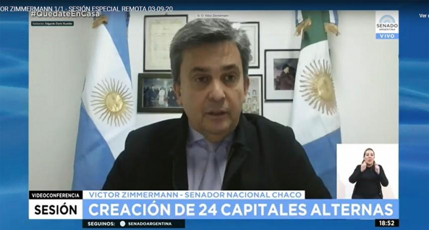 EL SENADO DESIGNÓ A SAENZ PEÑA COMO CAPITAL ALTERNA DEL CHACO