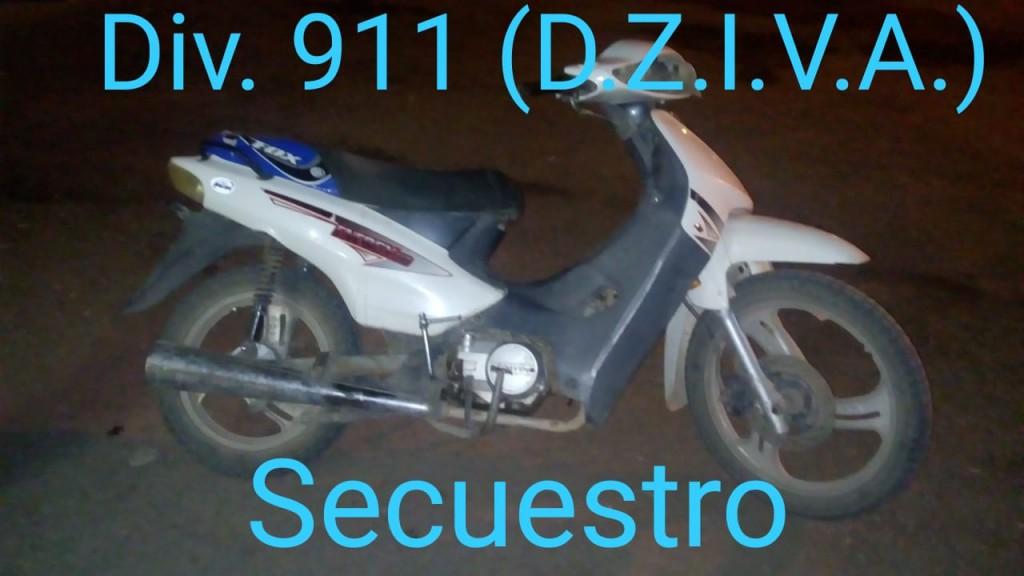 ESTABA REALIZANDO LA DENUNCIA CUANDO EL PERSONAL DEL 911 LE RECUPERO SU MOTOCICLETA
