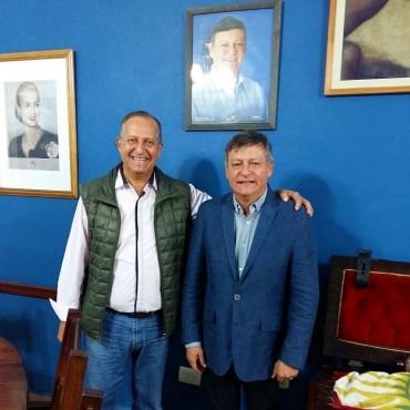 EL INTENDENTE PAPP RECIBIÓ AL GOBERNADOR EN SU DESPACHO Y HABLARON SOBRE CUESTIONES INHERENTES A LOS MUNICIPIOS