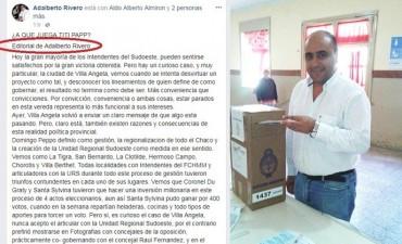 SE FILTRA POLEMICO AUDIO DONDE ALDO ALMIRON DA LETRA PARA  DEFENESTRAR AL INTENDENTE ADALBERTO PAPP