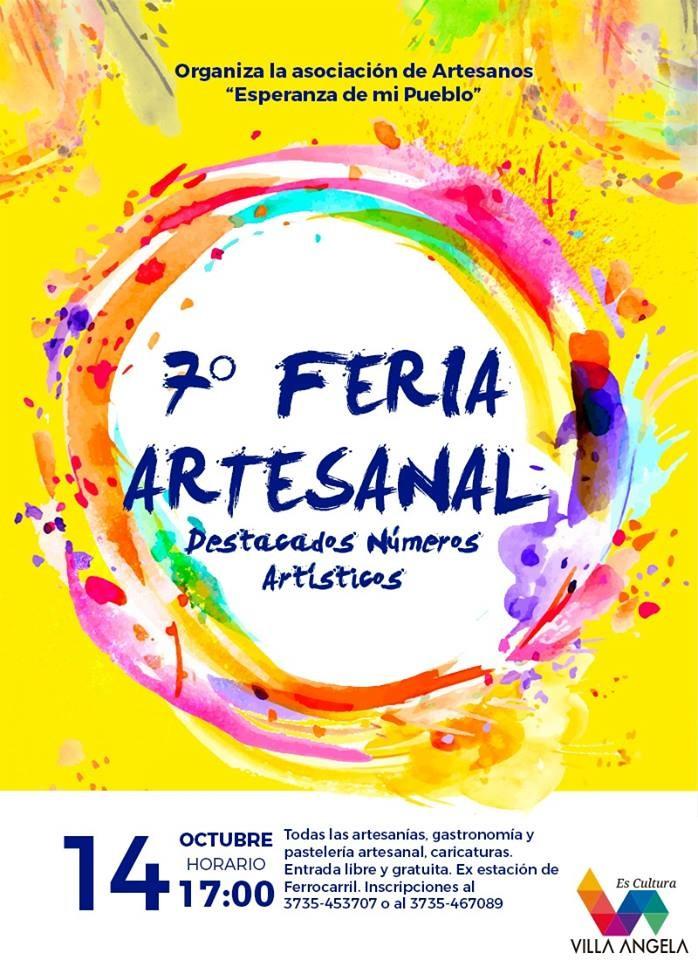 CULTURA INVITA A PARTICIPAR DE LA 7MA FERIA ARTESANAL EL DOMINGO 14