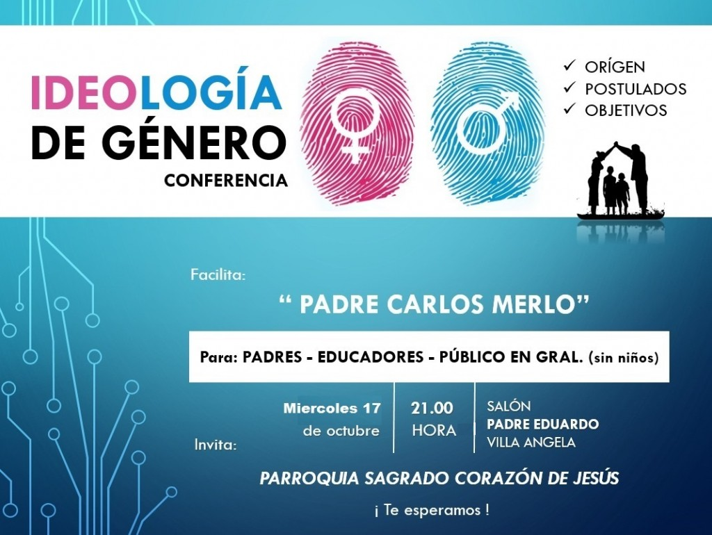 CHARLA SOBRE IDEOLOGÍA DE GÉNERO A CARGO DEL PADRE CARLOS MERLO