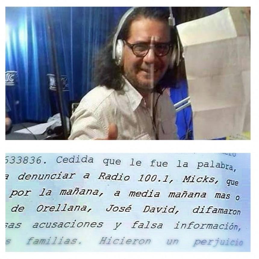 """DENUNCIAN A """"PERIODISTA"""" POR CALUMNIAS Y DIFAMACIÓN"""