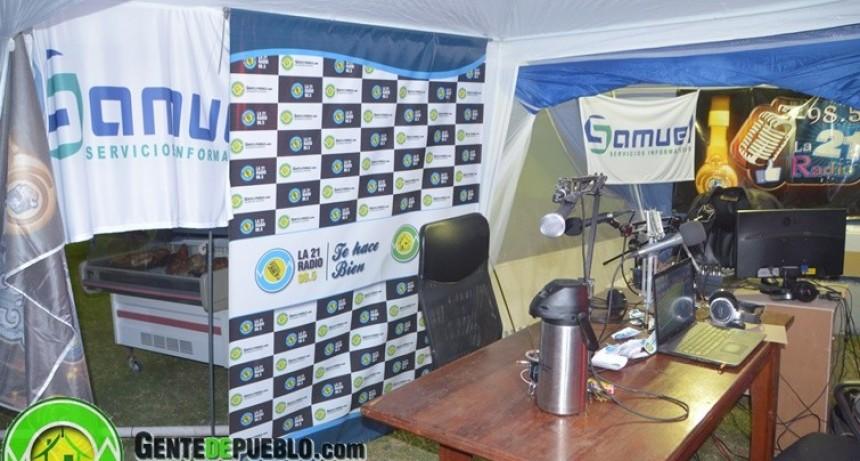LA 21 RADIO COMO DESDE HACE 10 AÑOS TRASMITIENDO EN LA MUESTRA DEL INTA