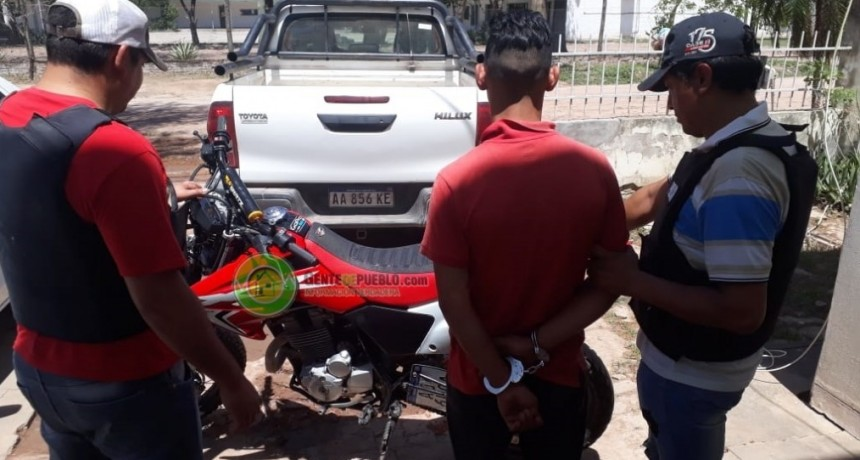 RECUPERARON EN CHARATA MOTO ROBADA EN VILLA ANGELA