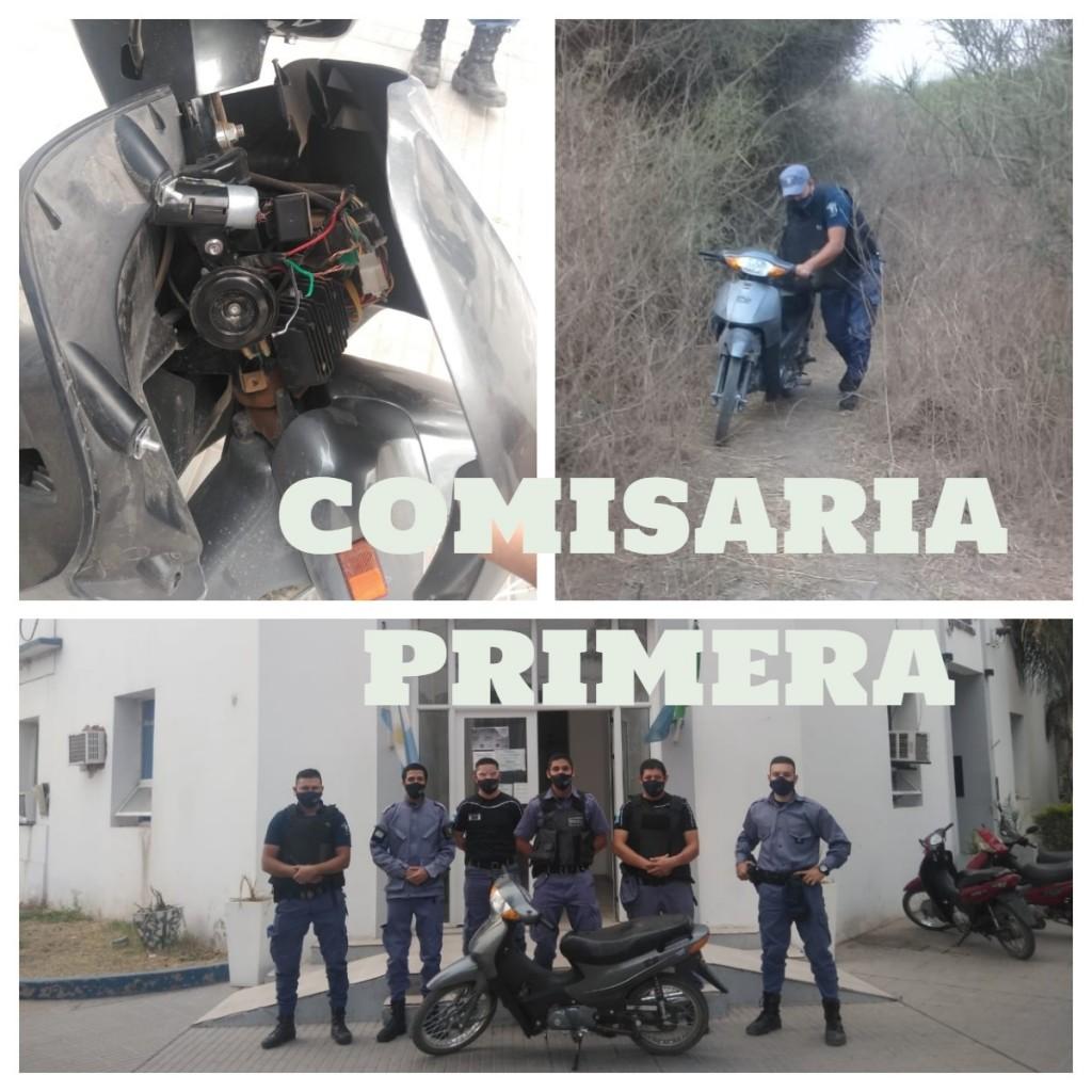 RECUPERARON UNA MOTOCICLETA ROBADA LUEGO DE UNA PERSECUSIÓN