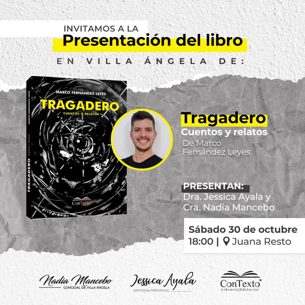 Villa Ángela : la diputada Ayala y la concejal Mancebo presentan el libro de Marco Fernández Leyes