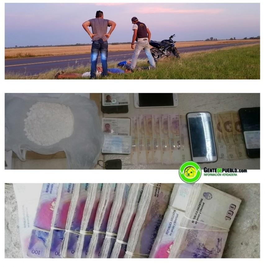 SAN BERNARDO: SECUESTRAN 266 GRAMOS DE COCAINA Y LA SUMA $ 117.882,00