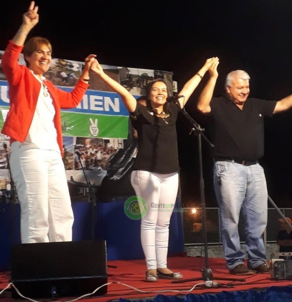 LILIANA PASCUA, PATRICIA LEZCANO Y MIGUEL SOTELO FESTEJARON SUS TRIUNFO ELECTORALES EN ENRIQUE URIEN