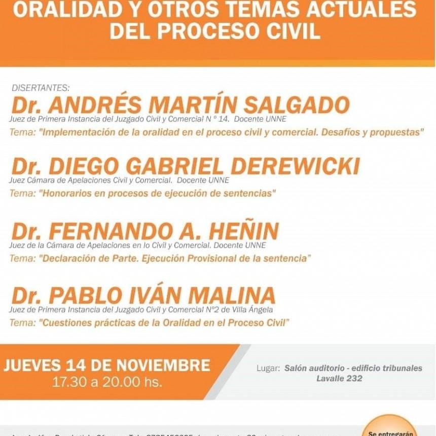 CURSO DE ORALIDAD Y OTROS TEMAS ACTUALES DEL PROCESO CIVIL
