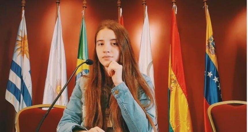 LA ALUMNA DRUGATENSE BRISSIANA GRAFF REPRESENTO A ARGENTINA EN EL PARLAMENTO JUVENIL DEL MERCOSURO