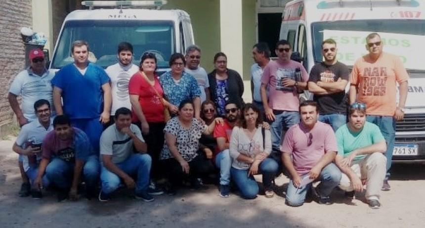 PARAN POR 24 HORAS LOS CHOFERES DE AMBULANCIAS DEL HOSPITAL SALVADOR MAZZA