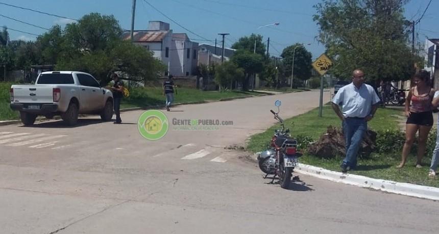 EL SUBSECRETARIO DE DESARROLLO LOCAL DE LA PROVINCIA ARROLLÓ UNA MOTOCICLETA