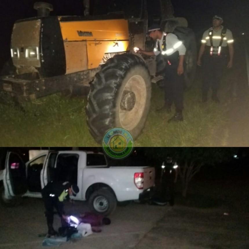 POLICÍA CAMINERA RECUPERO UN TRACTOR ROBADO EN GATO COLORADO