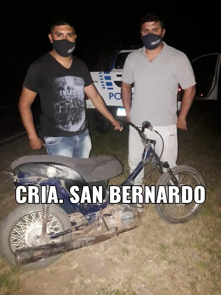 DENUNCIARON LA SUSTRACCION DE SUS BIENES Y A LAS POCAS HORAS EL PERSONAL POLICIAL DE SAN BERNARDO LOGRO RECUPERARLOS