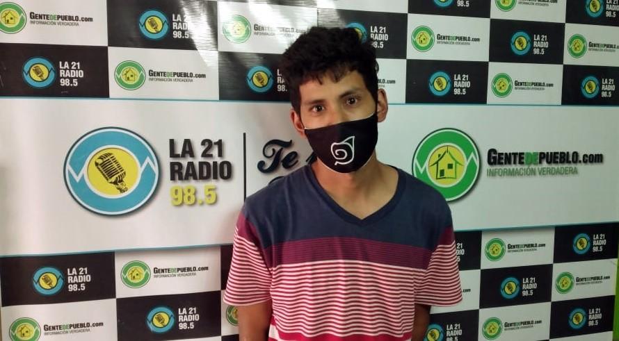 MENSAJERÍA Y CADETERÍA, EL TRABAJO DE CÉSAR, EN ESTA PANDEMIA