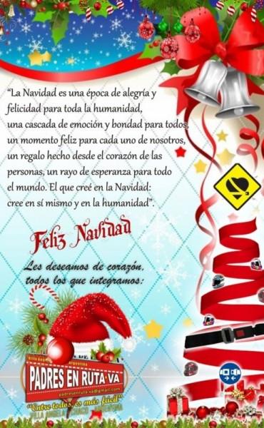 SALUTACION DE DE NAVIDAD DE PADRES EN RUTA V.A