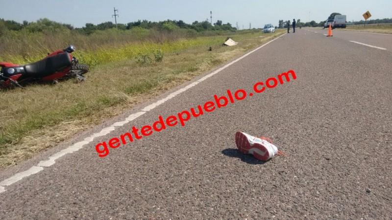 ACCIDENTE SOBRE RUTA 95 SE COBRA LA VIDA DE UN BEBE DE UN MES Y UNA MUJER DE 41 AÑOS