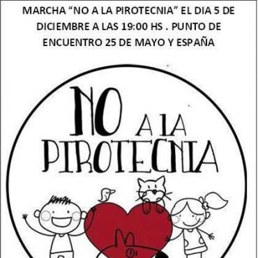 HOY DESDE LAS 19 SE MARCHA EN CONCIENTIZACIÓN SOBRE EL USO RACIONAL DE LA PIROTECNIA