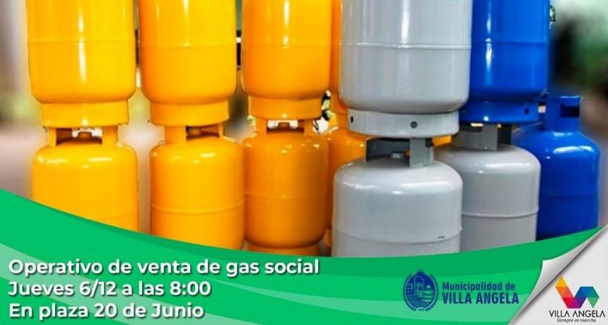 ESTE JUEVES 6 DE DICIEMBRE NUEVO OPERATIVO DE VENTA DE GAS SOCIAL
