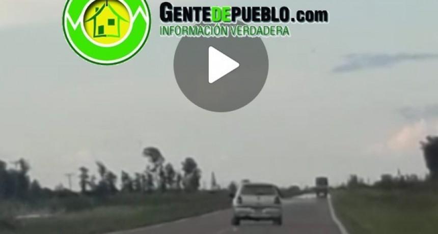 MALOS CONDUCTORES CASI CAUSAN UNA FATALIDAD EN LA RUTA NACIONAL 95