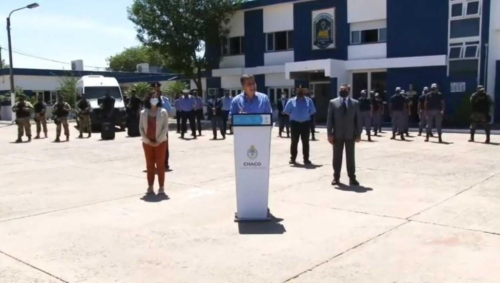 CAPITANICH PRESENTÓ EL PLAN DE SEGURIDAD QUE TENDRÁ MÁS DE 700 AGENTES Y 150 VEHÍCULOS POLICIALES INVOLUCRADOS