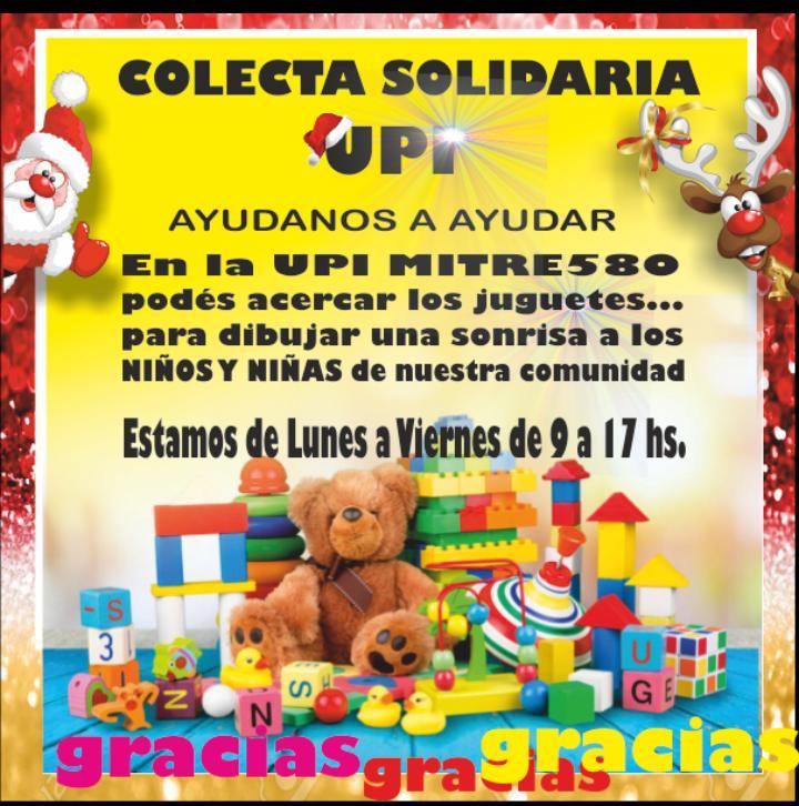 COLECTA SOLIDARIA DE UPI: AYUDANOS A AYUDAR