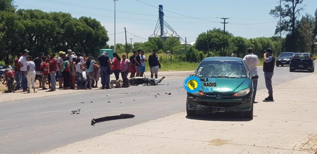 ACCIDENTE EN LA ENTRADA A SAN BERNARDO